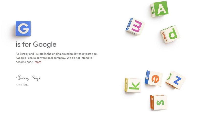 Dieser neuen Firma gehört Google jetzt