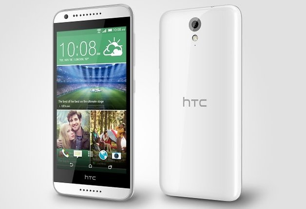 HTC Desire 620 front back