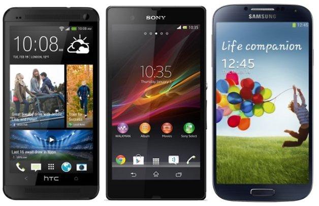 HTC Samsung SOny 2