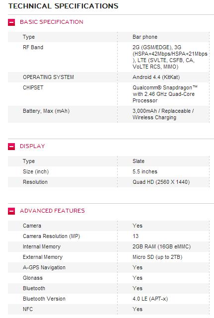 LG G3 Specs 1