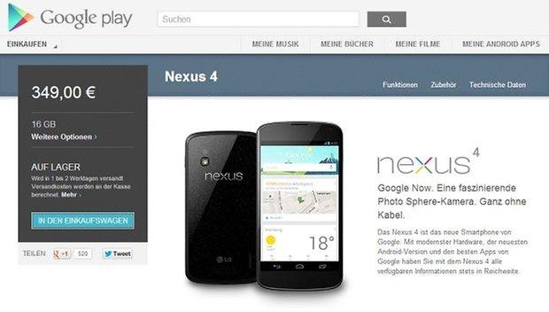 Nexus4 Google Play