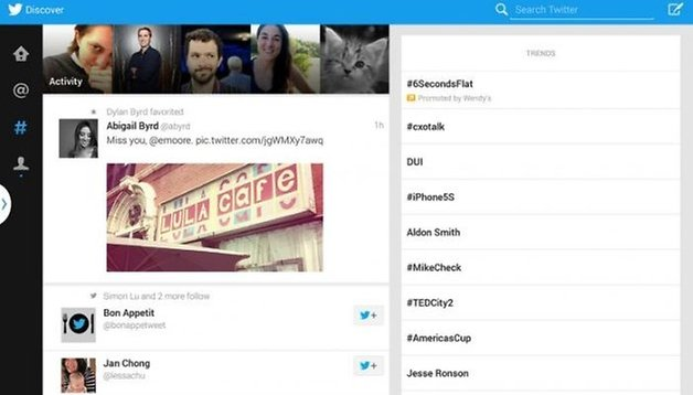Twitter and Samsung: the tablet app exclusively for the Note 10.1 2014
