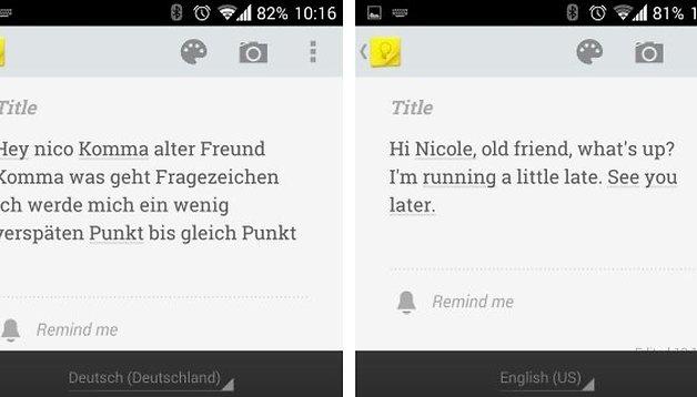 Schreiben per Google-Spracheingabe: Deutsch und Englisch im Vergleich