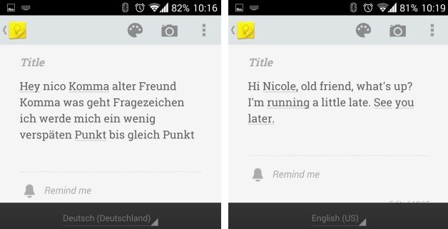 Schreiben Per Google Spracheingabe Deutsch Und Englisch Im