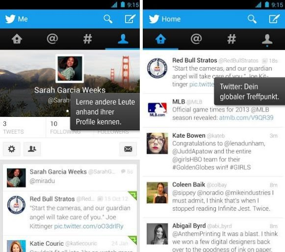 Twitter screens klein