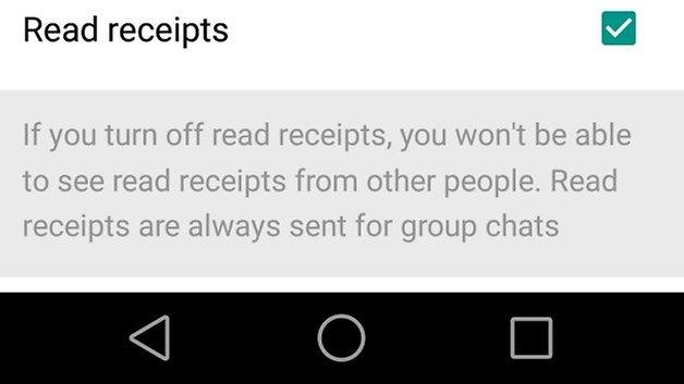WhatsApp read receipts