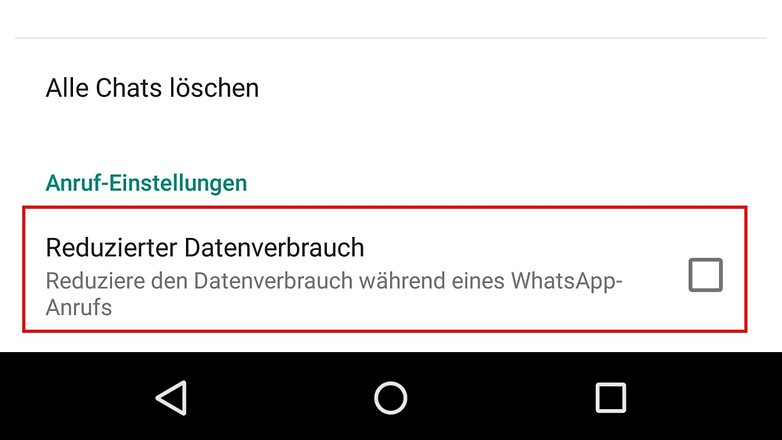 whatsapp calls data