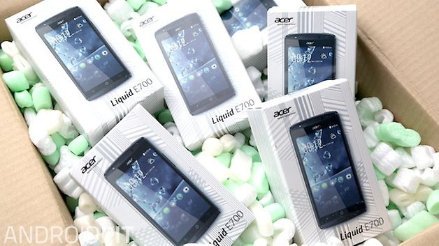 acer liquid e700 trio lesertest
