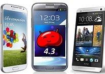 Samsung Galaxy S, Note und HTC One: Android 4.3 kommt sehr bald
