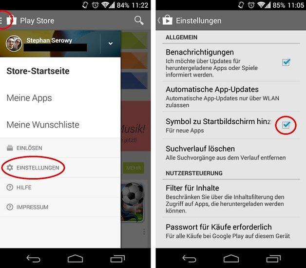 app shortcuts homescreen2