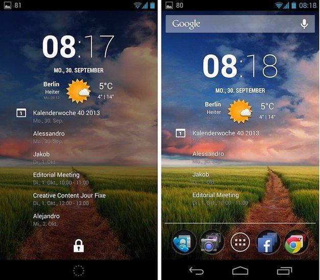 clock widget screens