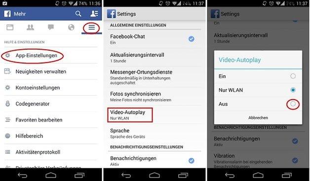 facebook autoplay deactivate