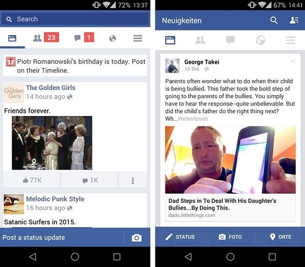 facebook vs lite 2