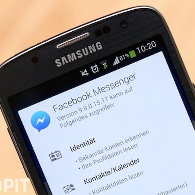 Haken bei facebook messenger