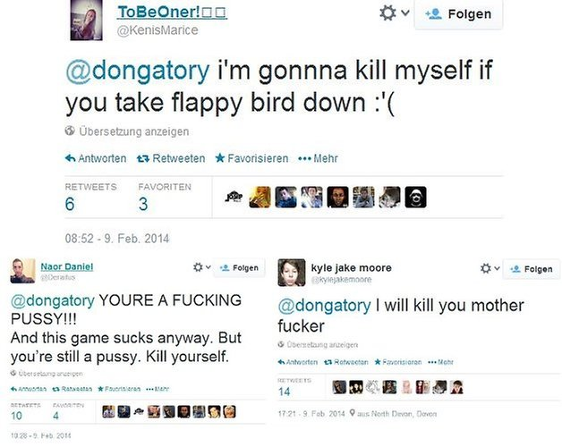 flappy hate tweets