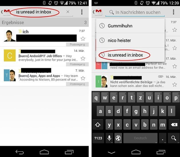 gmail unread messages