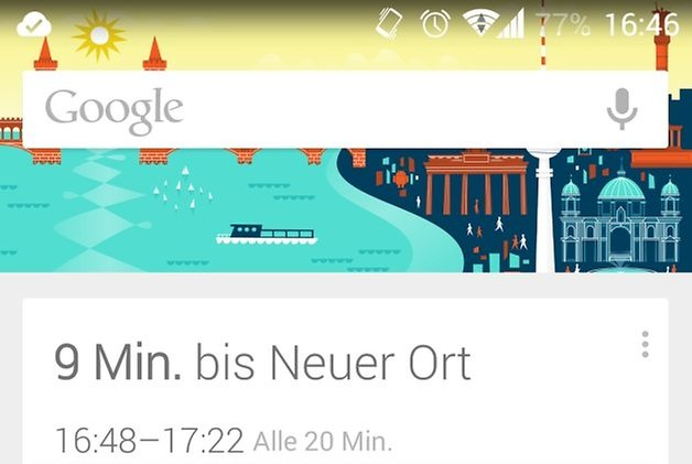 google now new place