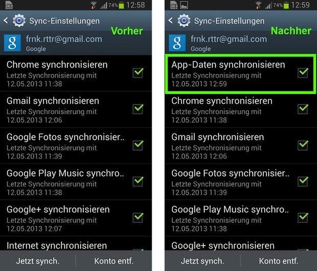 google play services app daten synchronisieren