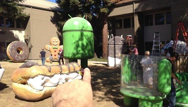 Android L: Vorbereitungen vor dem Googleplex in Bildern