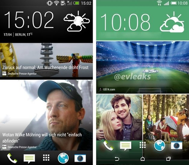 htc screens