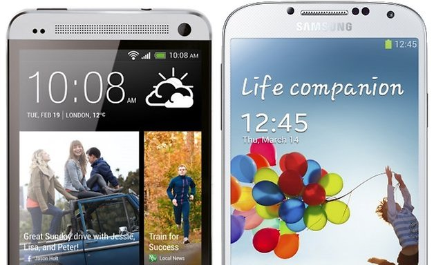htcone galaxys4 comparison