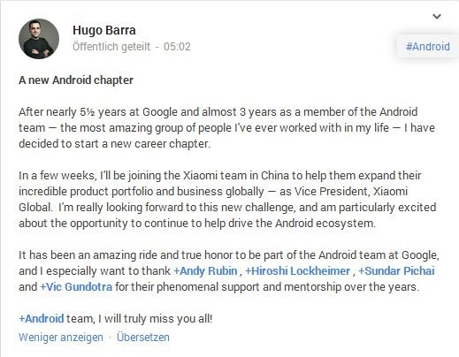 hugo google plus