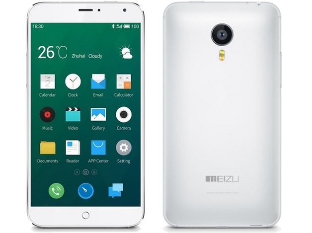 meizu mx4 front back