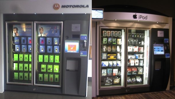 moto ipod vending machines
