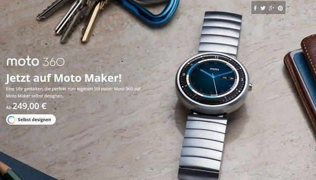 Eure individuelle Moto 360 wartet im deutschen Moto Maker jetzt auf Euch