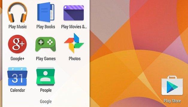 Screenshot zeigt modernisierte Android-Icons für Google-Apps
