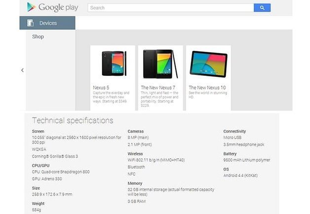 nexus 10 2013 google play 2