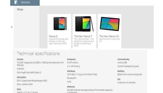 Mais où est passée la Nexus 10 (2013) ?