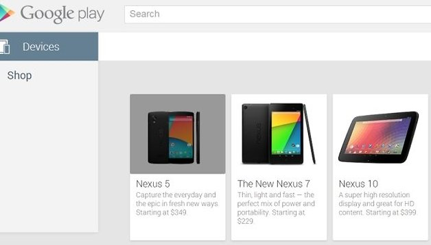 Nexus 5 - ¡Aparición fugaz en Google Play por 349 dólares!