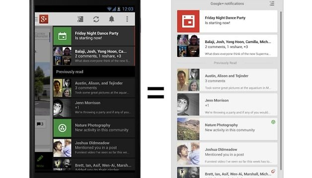 Google+ and Google Play Music Updates bring small improvements