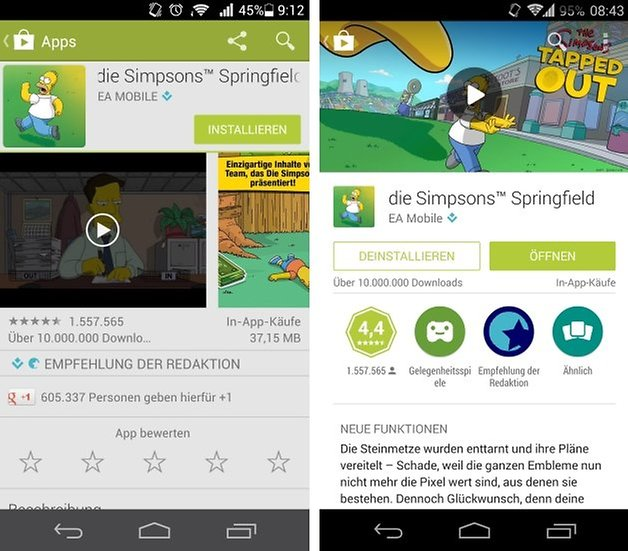 play store material design simpsons