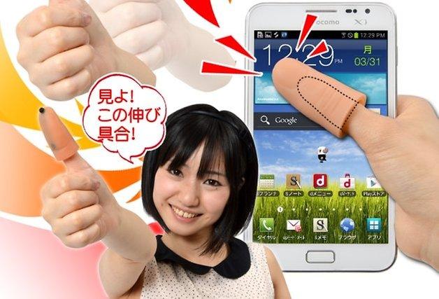 prosthetic smartphone thumb