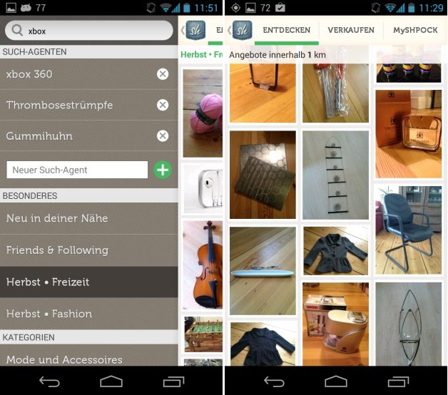 app tipp shpock der android flohmarkt f r flohmarkt muffel androidpit. Black Bedroom Furniture Sets. Home Design Ideas