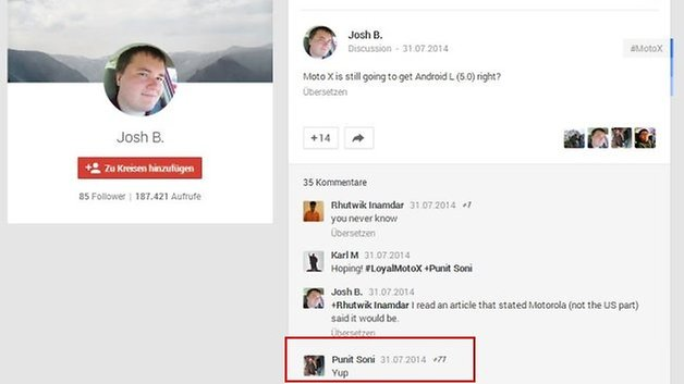 sino google plus