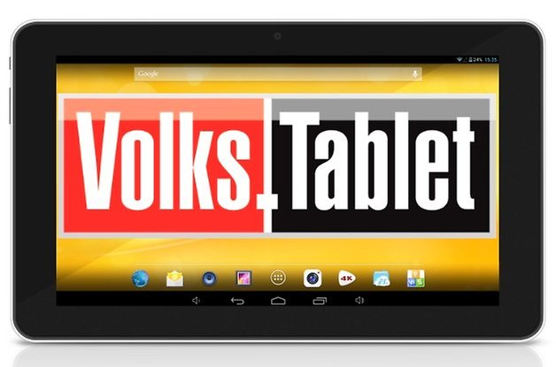 volks tablet front