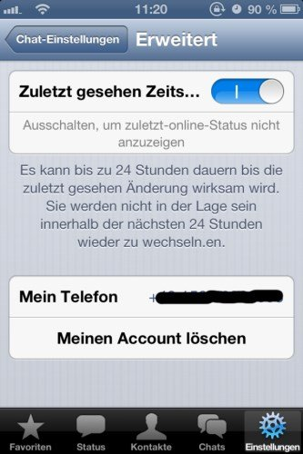 whatsapp iOS 2