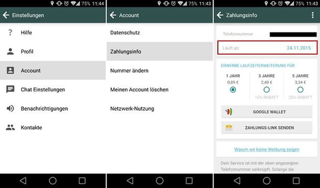 whatsapp payment subscription