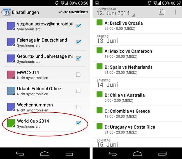 world cup google calendar screen
