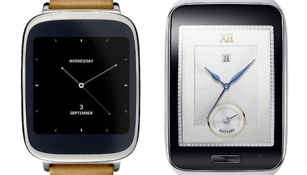 Samsung Gear S vs. Asus ZenWatch: Teuer und günstig im Vergleich
