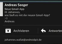 Gmail-Update ermöglicht direkte Antwort auf Benachrichtigungen