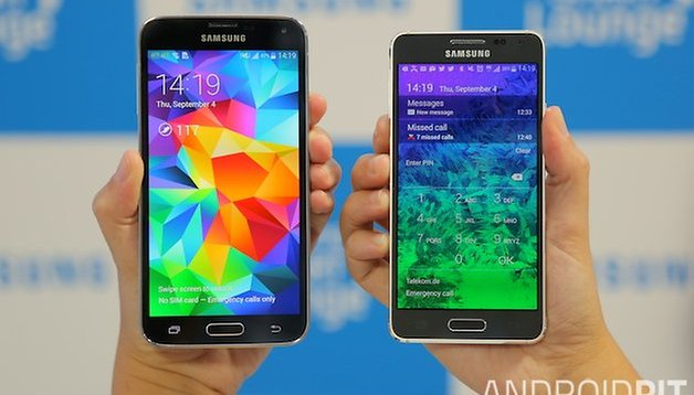 Test comparatif : Samsung Galaxy S5 vs Galaxy Alpha