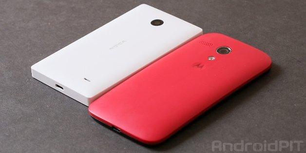 Moto G Nokia X 1