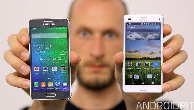 Samsung Galaxy Alpha und Sony Xperia Z3 Compact im Vergleich