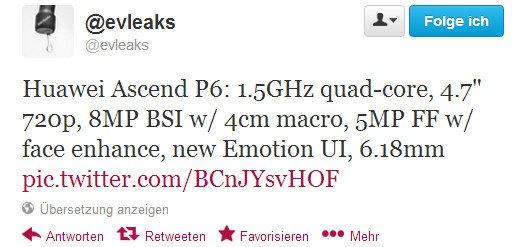 evleaks specs ascend p6