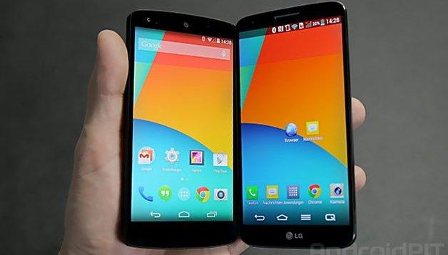 Nexus 5 and LG G2 comparison: not quite on par
