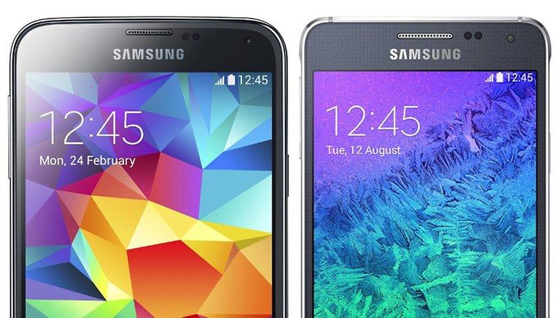 Comparación - Samsung Galaxy Alpha vs. Samsung Galaxy S5